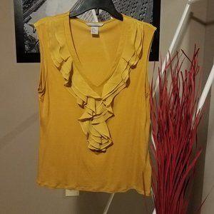 H & M Golden Yellow Sleeveless Top
